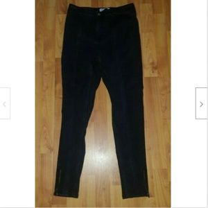 Zara Black Skinny Straight Zipper Ankles Jeans